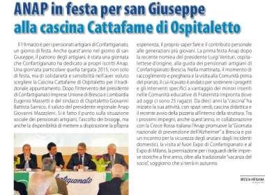 Festa di San Giuseppe Gruppo ANAP Brescia - 19 marzo 2015