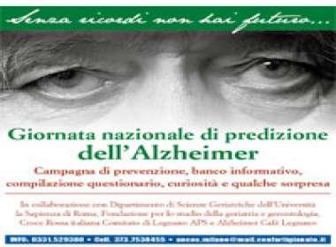 Sabato 29 Aprile per la Giornata nazionale di prevenzione dell'Alzheimer