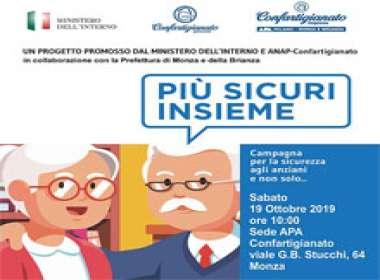 Giornata sulla sicurezza agli anziani a Monza