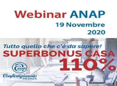 superbonus casa 110% webinar anap confartigianato vicenza