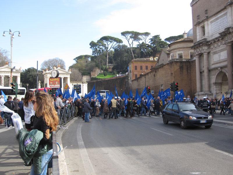Manifestazione a Roma 18-02-14