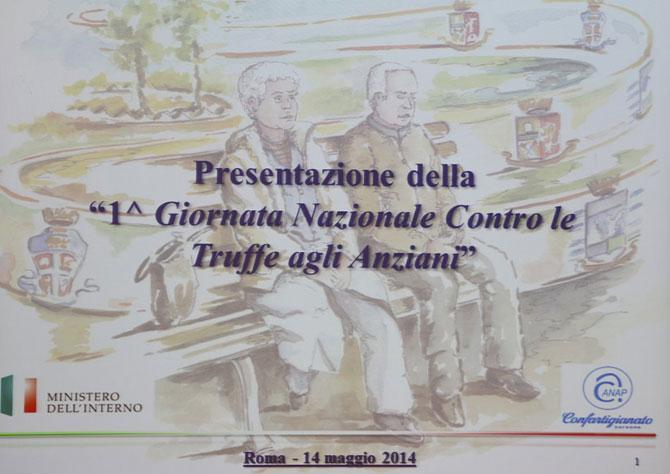 Conferenza stampa Giornata anti truffa anziani 14-05-2014