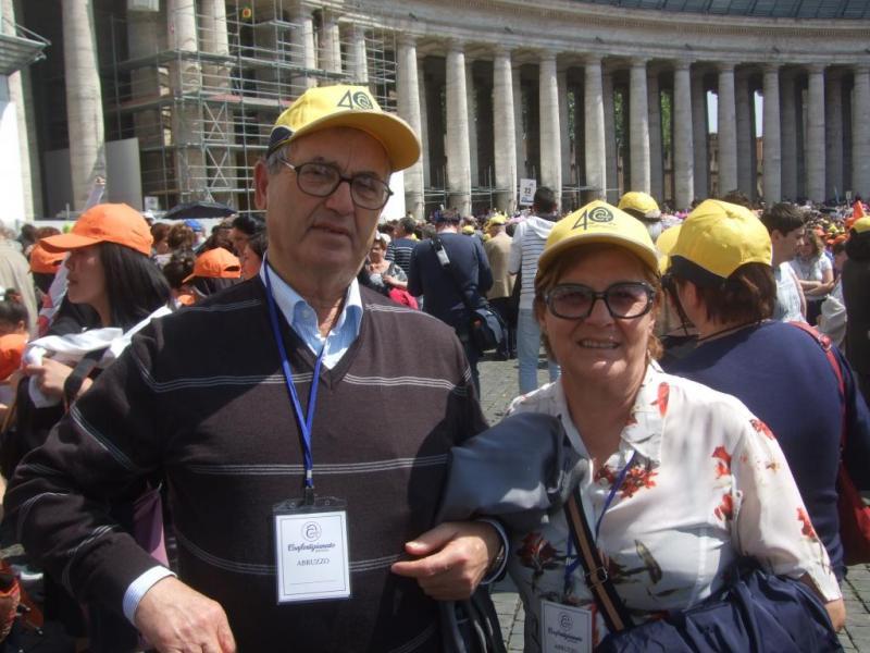 Emozione per la visita a Papa Francesco
