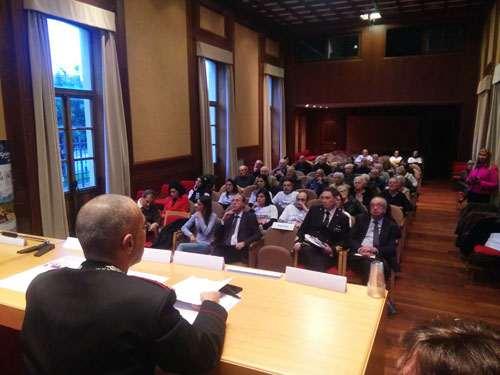 Il numeroso pubblico durante il convegno Più Sicuri Insieme
